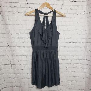 NEW American Eagle Gray Keyhole Halter Mini Dress